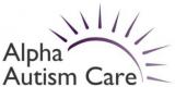 Alpha Autism Care Logo with Sun